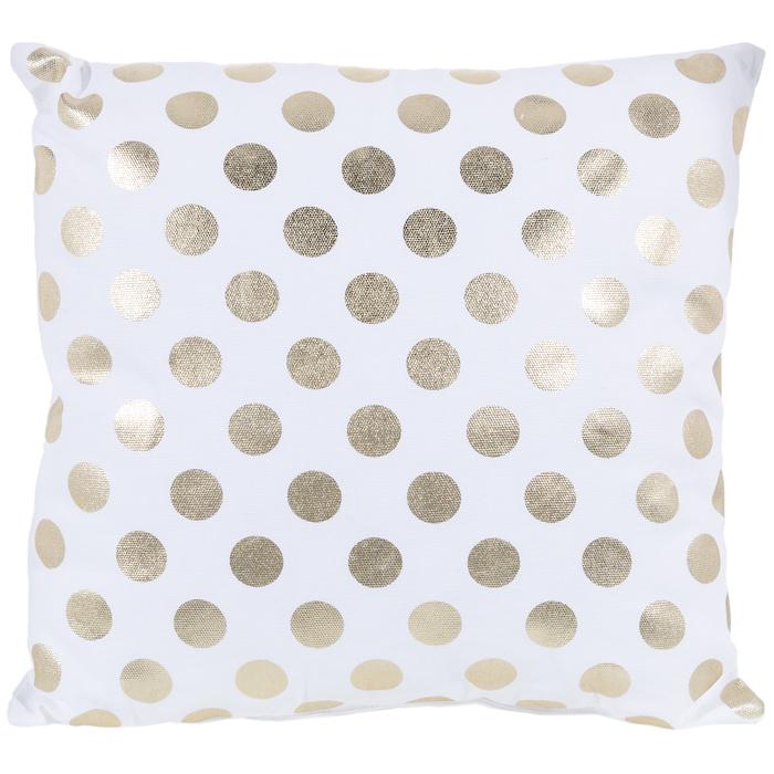 White Gold Polka Dot Pillow Hobby Lobby 1121284